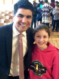 WAGA-TV Fox 5 Meteorologist Ryan Beesley visits Mary Lin Elementary